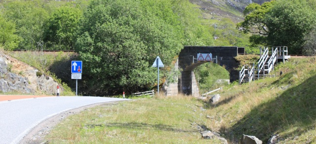 26 under the railway bridge, Ruth walking to Arisaig, Scotland