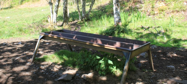 43 cattle troughs, Ruth walking to Arisaig, Scotland