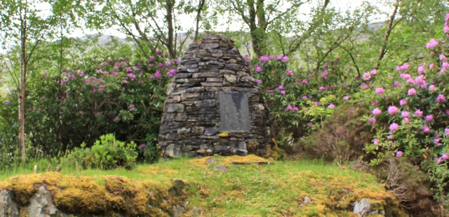 46 memorial to Mrs Cameron Head, Ruth walking up Loch Ailort, Scotland