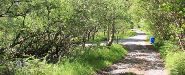 55 public road, Ruth walking to Arisaig, Scotland