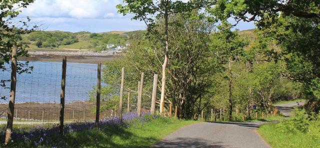 56 Loch nan Ceall, Ruth walking to Arisaig, Scotland