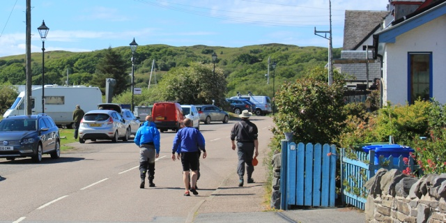 60 coming in from the sea, Ruth walking to Arisaig, Scotland