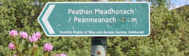 Peanmeanach signpost