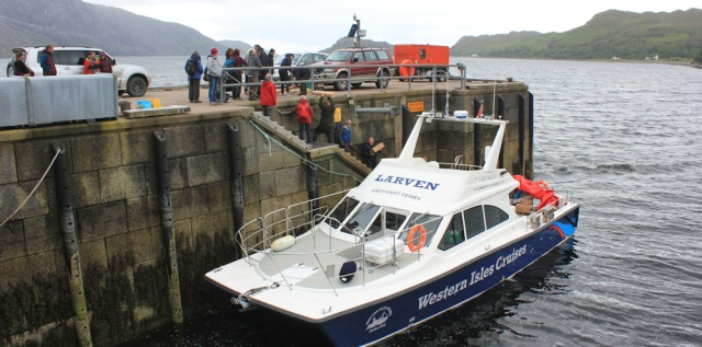 01 arriving at Inverie, Ruth Livingstone in Knoydart, Scotland