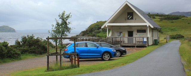 01 car park for Corran, Arnisdale, Ruth's coastal walk around Scotland