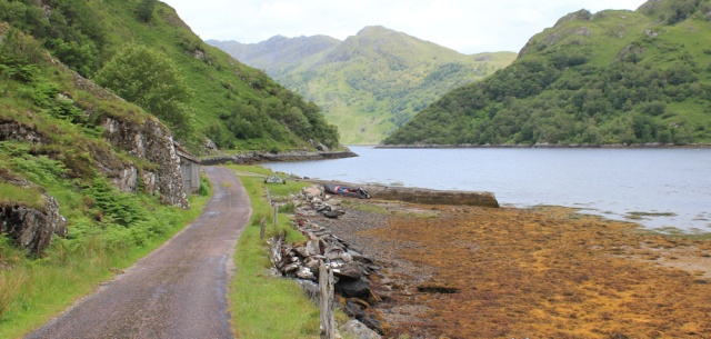 01 slipway at top of Loch Hourn, Ruth's coastal walk, Knoydart, Scotland