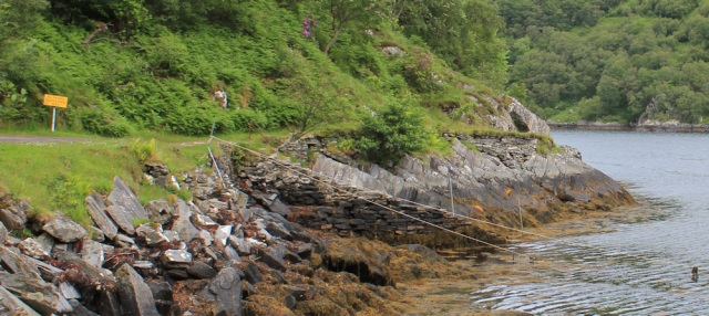 02 steps for the ferry, Loch Hourn, Ruth's coastal walk, Knoydart, Scotland