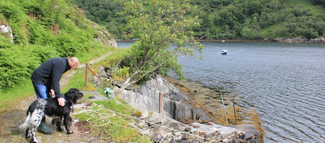 03 waiting for the ferry, Ruth's coastal walk, Knoydart, Scotland