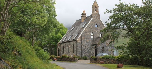 04 converted chapel in Inverie, Ruth Livingstone hiking across Knoydart, Scotland