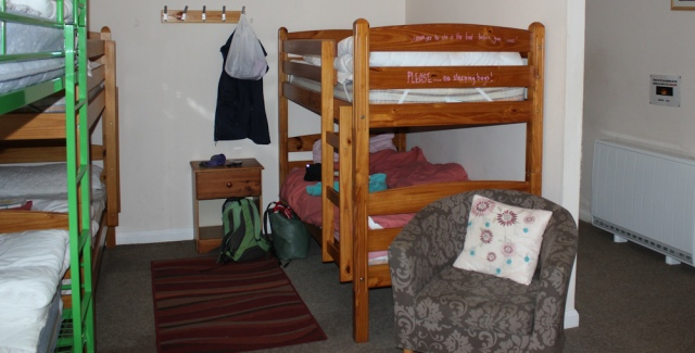 10 bunk bed, Ruth Livingstone hiking across Knoydart, Scotland