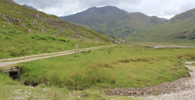 11 road from Barrisdale beach, Ruth's coastal walk, Knoydart, Scotland