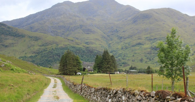 12 Barisdale bothy and mountains, Ruth's coastal walk, Knoydart, Scotland