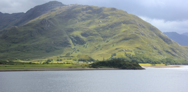 12 Knoydart shore, from Arnisdale, Ruth's coastal walk around Scotland