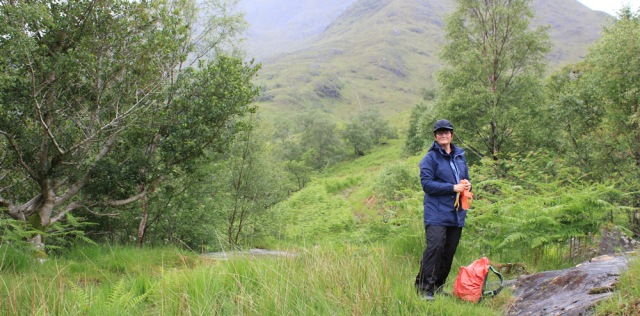 14 snack in the rain, Ruth's coastal walk, Knoydart, Scotland