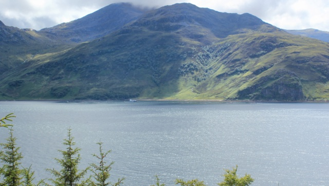 15 fish farm on Loch Hourn, Ruth walking the Scottish coast from Arnisdale to Sandaig