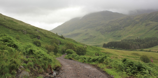15 mist covered hills, Ruth hiking over the Knoydart Peninsula, Scotland