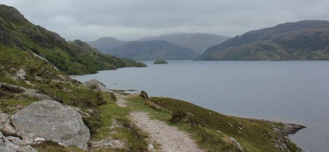 16 rocky path up towards top of Loch Morar, Ruth Livingstone