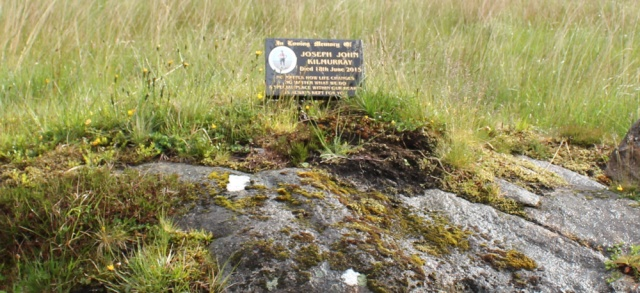 18 memorial to Joseph John Kilmurray, Ruth hiking across Knoydart, Scotland
