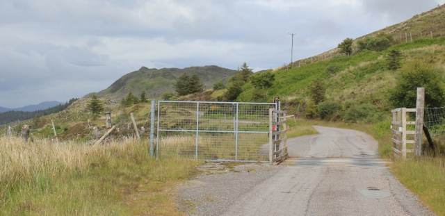 22 another cattle grid, Ruth walking the Scottish coast from Arnisdale to Sandaig