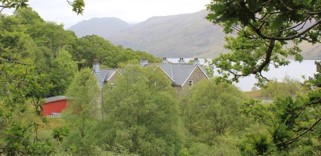 25 Swordland Lodge, Ruth walking along the shore of Loch Morar
