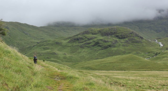 26 more hikers, Ruth walking across the Knoydart peninsula, Scotland