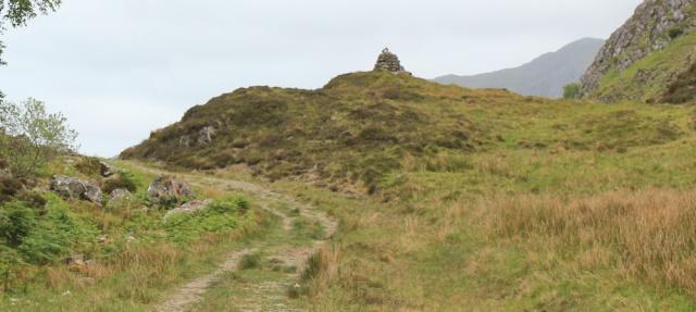 27 cairn at top of Glen Tarbet, Ruth's coastal walk around Scotland