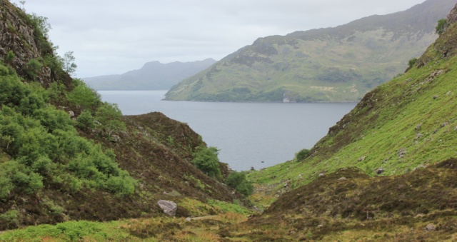 28 looking down to Tarbet Bay, Ruth Livingstone hiking around Scotland