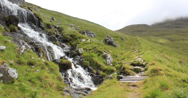 30 waterfalls and bridges, Ruth hiking across Knoydart, Scotland