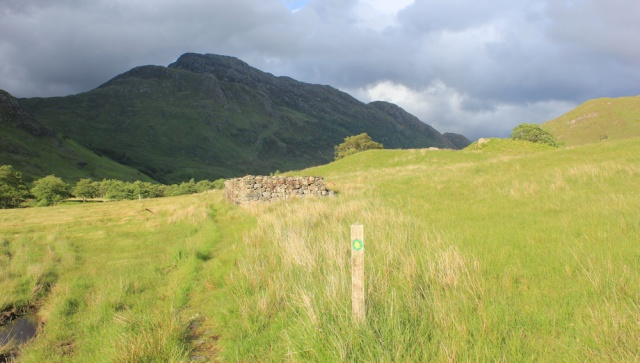 33 dark clouds over Glen Arnisdale, Ruth's coastal walk