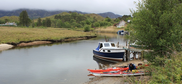 33 pleasure craft on Loch Morar, Ruth's coastal walk