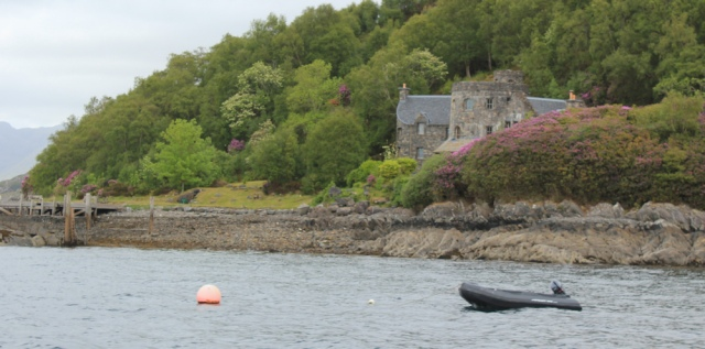34 castle house, Tarbet, Ruth on the ferry
