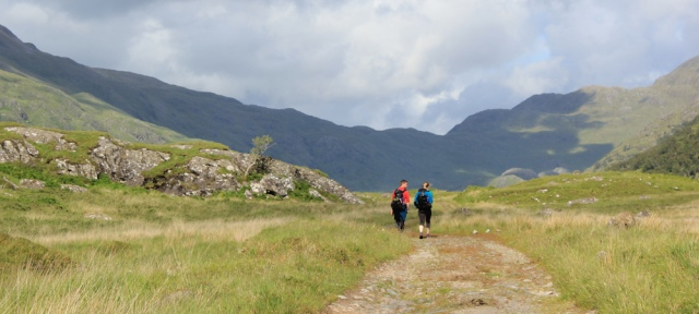 39 a crowded wilderness, Ruth hiking across the Knoydart Peninsula