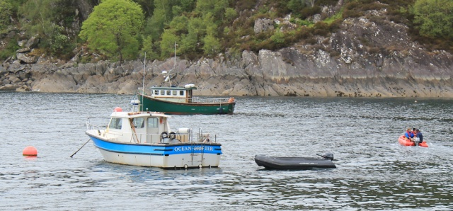51 out to private ferry, Ruth Livingstone in Tarbet, Scotland