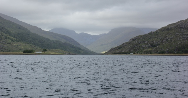55 looking up Loch Nevis, Ruth on the Tarbet Ferry, Scotland