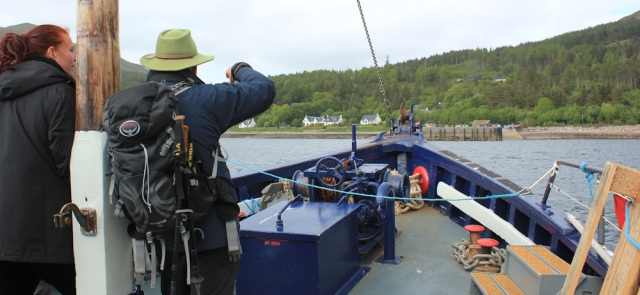 57 Inverie wharf, Ruth on the Tarbet Ferry, Scotland