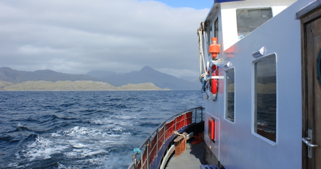 ferry to Mallaig from Inverie, Ruth's coastal walk