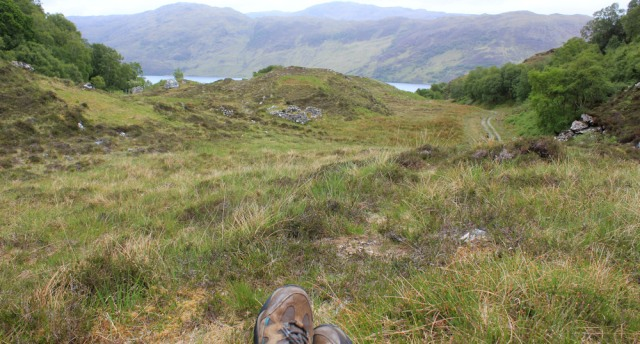 lunchtime view. Loch Morar, Ruth Livingstone