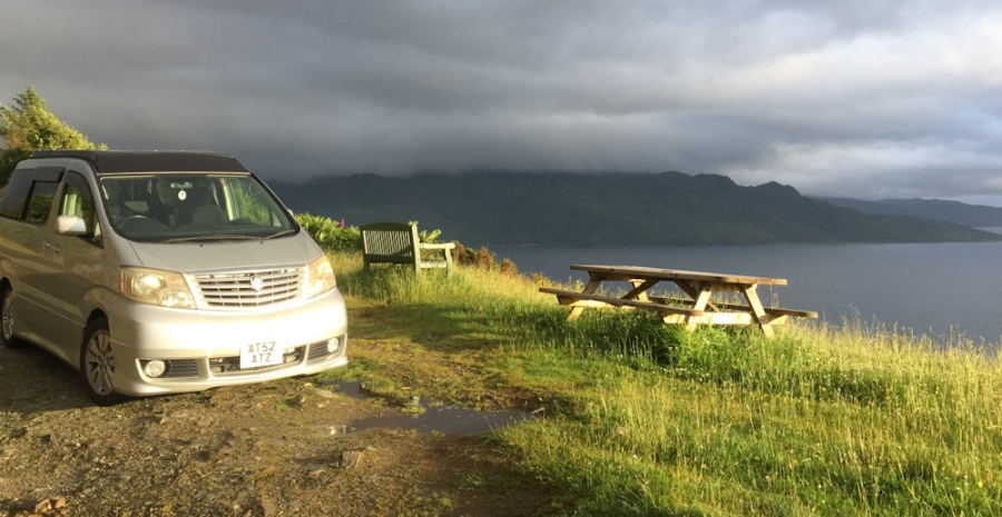 The Beast in sunshine after the rain, Ruth's coastal walk, Sandaig, Scotland