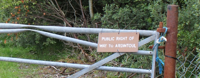 03 public right of way to Ardintoul, walking round the coast of Glenelg, Scotland
