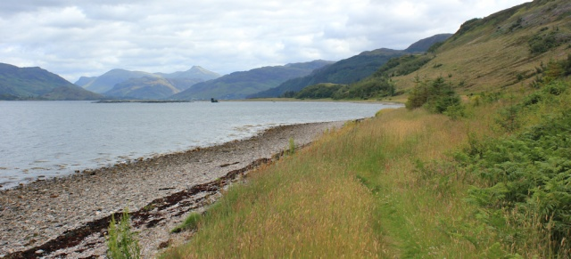 15 Loch Alsh shore, walking round the coast of Glenelg, Scotland