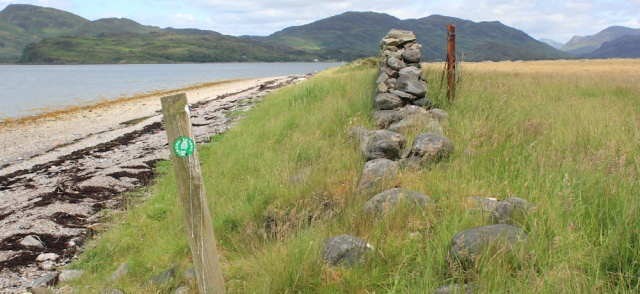18 coming off the beach, Lochalsh Trail, Ruth's coastal walk around Scotland