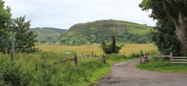 53 footpath across marsh, to Galltair, Ruth's coastal walk around Glenelg peninsula, Scotland