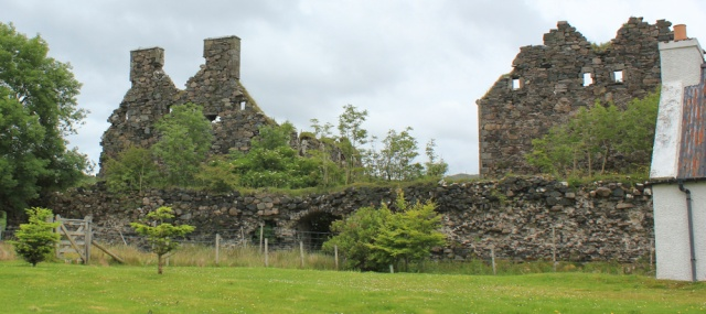 58 ruins of Bernera Barracks, Ruth's coastal walk around Glenelg peninsula, Scotland
