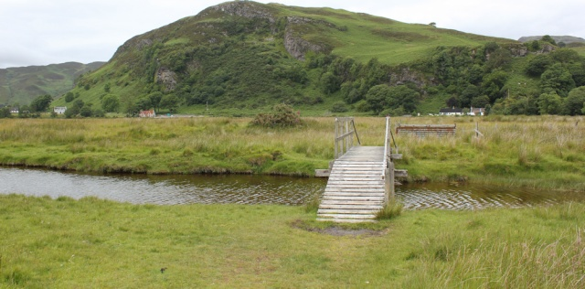 59 footbridge over stream, Ruth's coastal walk around Glenelg peninsula, Scotland