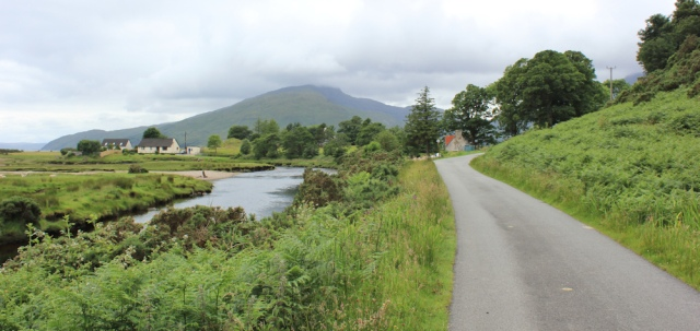 62 road towards the Kylerhea Ferry, Ruth's coastal walk around Glenelg peninsula, Scotland
