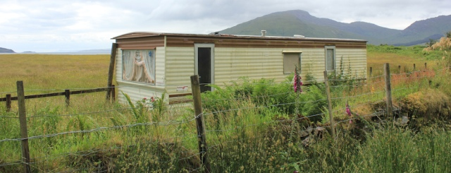 65 static caravan, Glenelg Bay, Ruth's coastal walk around Scotland