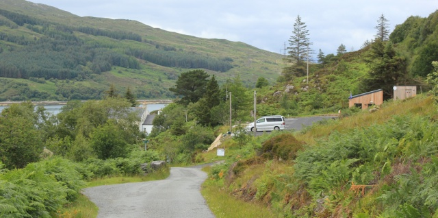 79 Kylerhea Ferry parking place, Ruth's coastal walk around Glenelg peninsula, Scotland