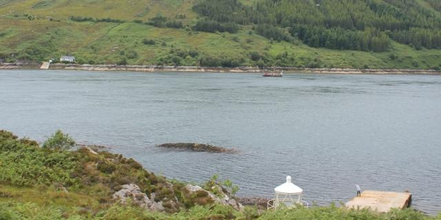 Kylerhea ferry xtra long way round, Ruth Livingstone