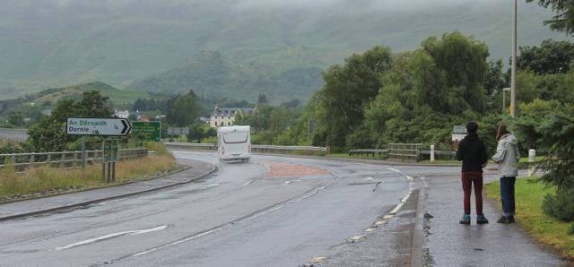 03 hitchhikers at Dornie, Ruth's coastal walk around Scotland