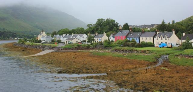 06 pretty houses, Dornie, Loch Long, Ruth's coastal walk around Scotland